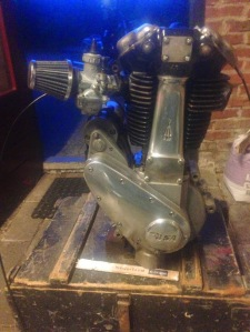BSA B31 engine reassembled with Mikuni carb and open airfilter